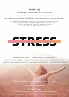 flyer stage anti-stress libération des tensions et traumatismes paris